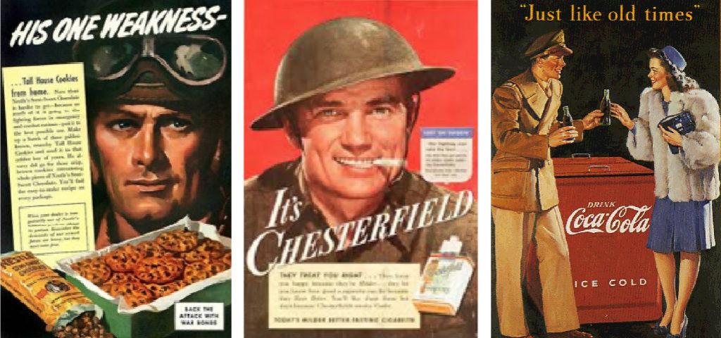 Exemples de publicités (WW2)