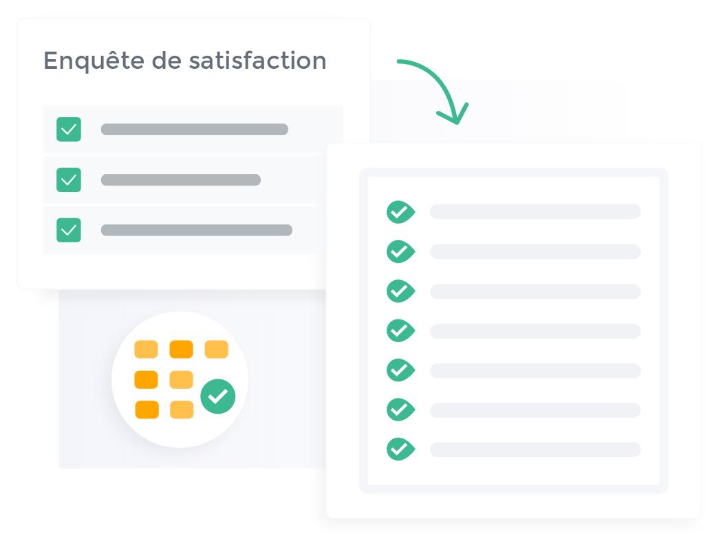 Configurez votre enquête de satisfaction en quelques clics